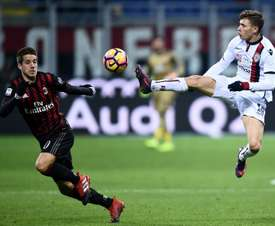 Cagliari's Nicolo Barella has been subject to interest from some of Europe's top clubs. AFP
