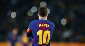 Leo Messi, o rei do Camp Nou. AFP