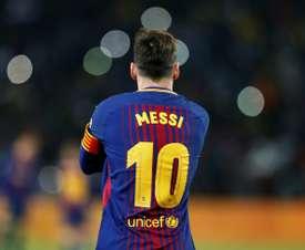 Messi ganha o seu 33ª título pelo Barça. AFP