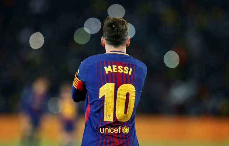 Barcelona's new captain - Lionel Messi. AFP