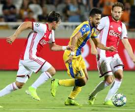 Ajax finish with 10 men and a goalless draw in Cyprus.