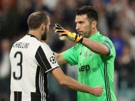 Buffon and Chiellini extend Juve deals until 2021. AFP