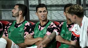 CR7 no banco pode sair caro a Juventus. AFP