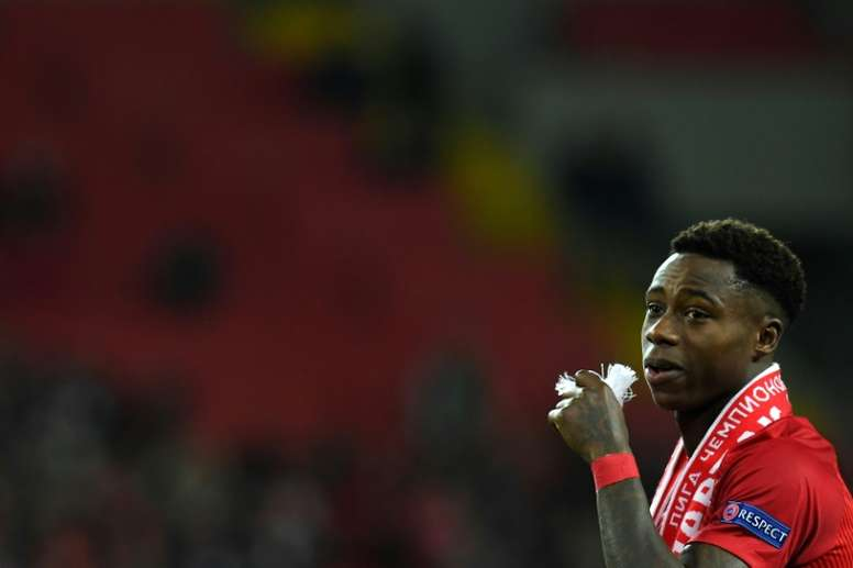 Quincy Promes scored for Spartak against Dynamo. AFP