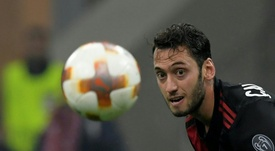 Hakan Calhanoglu could leave Milan this summer. AFP