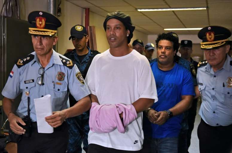 Paraguay court releases Ronaldinho into house arrest in Asuncion hotel. AFP