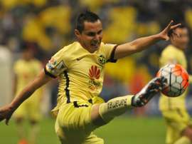 Paul Aguilar of Mexicos Club America FC controls the ball during a CONCACAF Champions League match at the Azteca stadium in Mexico City, on March 2, 2016