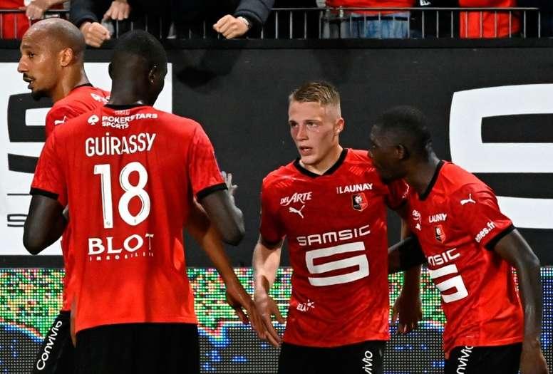 Youngster Truffert scored for Rennes. afp_en
