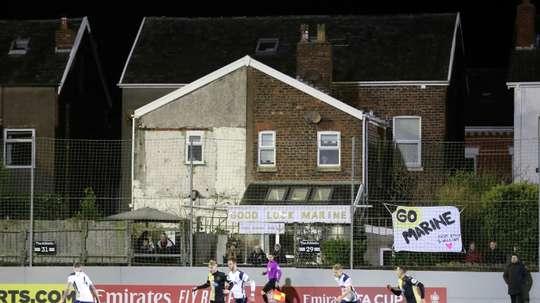Le beau geste de Tottenham après la victoire contre le Marine FC. AFP