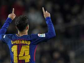 Coutinho scored his first league goal for Barcelona. AFP