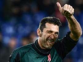 Buffon passe en revue l'actualité de la Juventus. AFP