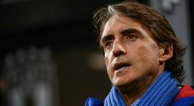 Mancini se mostró optimista a la par que crítico. AFP