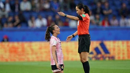 Deflated Scots criticise referee but also blame themselves. AFP