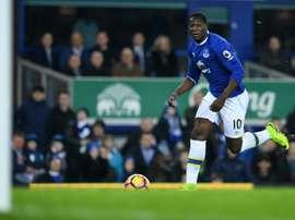 Lukaku scored Everton's opener in the 4-0 victory. AFP
