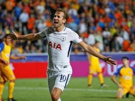 Harry Kane is on Real Madrid's radar. AFP