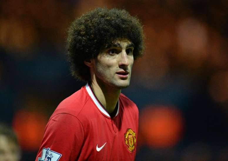 Fellaini in action for Manchester United. AFP