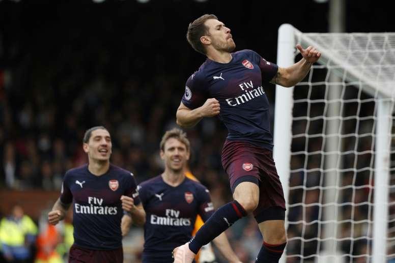 Ramsey intéresse le PSG. AFP