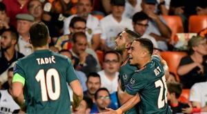 Ziyech incertain avec l'Ajax pour affronter Getafe. AFP