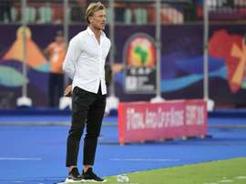 Morocco coach Renard was shocked that his players were not allowed to drink during the game. AFP