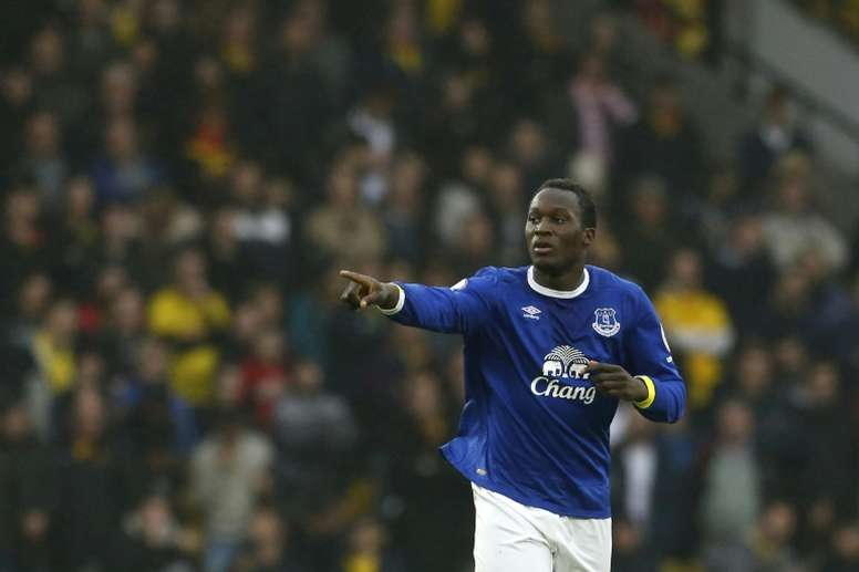 Lukaku celebrating a goal. AFP