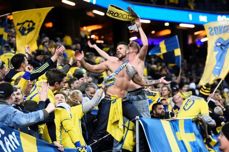 The match was taking place in the second division of Swedish football. AFP.