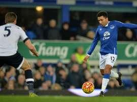 La policía encontró al jugador del Everton desorientado. AFP