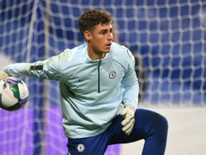 Kepa is on the bench. AFP