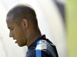 With two matches still left on his suspension, Neymar, pictured on September 28, 2015, will again be absent for Brazils 2018 opening qualifiers against Chile and Venezuela
