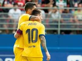 Le Barça, leader de la Liga après la défaite du Real. AFP