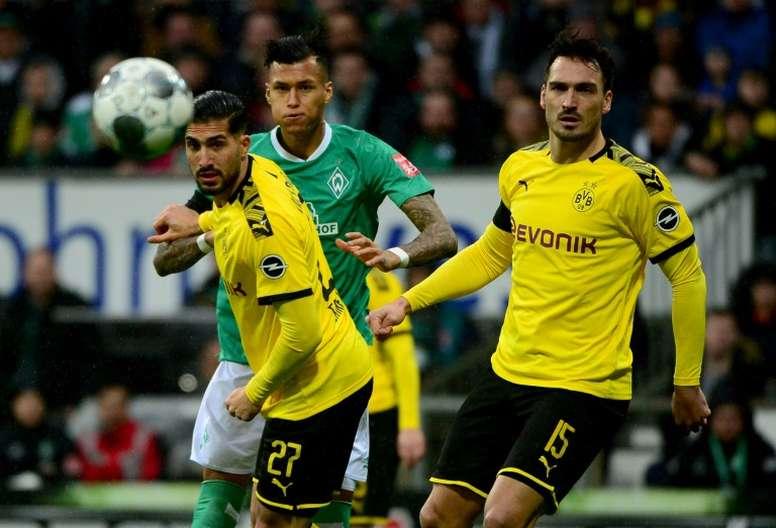 El fútbol alemán se solidariza con los más afectados. AFP