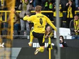 Haaland celebrates a goal. afp_en