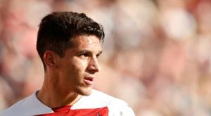 Lucas Torreira voltou a treinar com os colegas do Arsenal. AFP