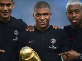 Mbappe is set to make his first appearance back with PSG following the World Cup. AFP