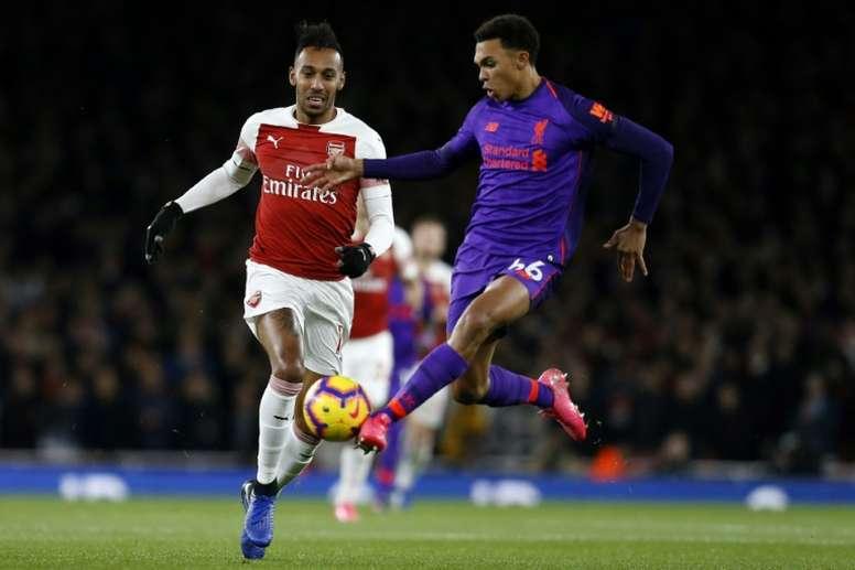 Les compos probables du match de Premier League entre Liverpool et Arsenal. afp