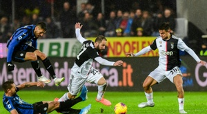 Higuain and Dybala helped Juve to victory at Atalanta. AFP