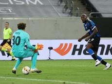 Romelu Lukaku netted for the 10th consecutive Europa League fixture. AFP