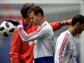 Akinfeev is Russia's best-known player. AFP