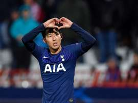 Son bounces back with a brace as Tottenham thrash Red Star again. AFP