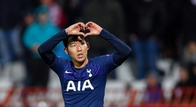 Son bounces back with a brace as Tottenham thrash Red Star again. AFP