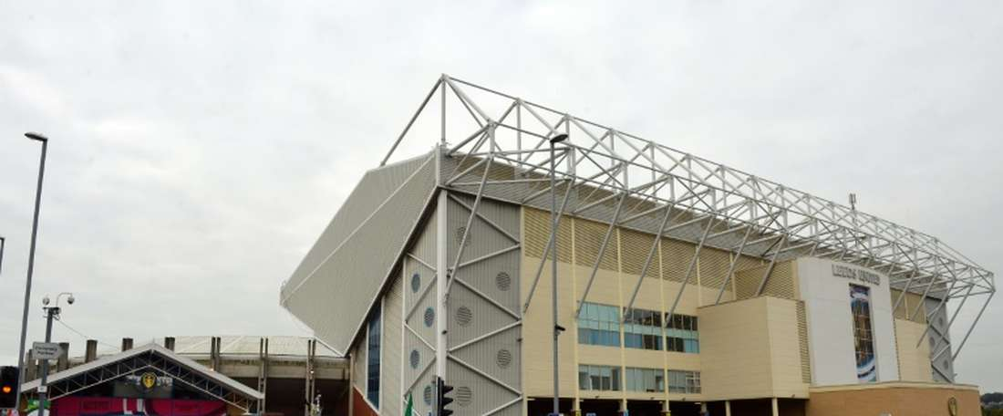 Leeds fans were censored by 'Sky Sports' for obscene chanting. AFP