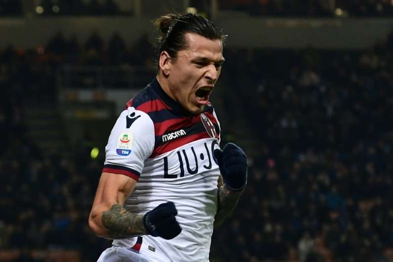 Santander scored a brilliant goal to give Bologna the three points. AFP