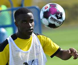 Dortmund are not saying whether Youssoufa Moukoko will make his Dortmund debut on Saturday. AFP