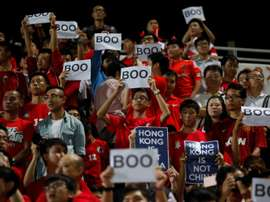 China lost to Hong Kong. AFP