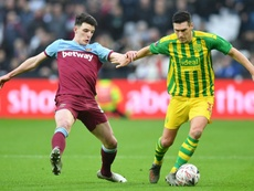 West Ham lost 0-1 to WBA in the FA Cup. AFP