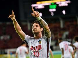Pato has returned to something like his best in China. AFP