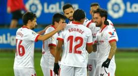 El Sevilla volvió a ganar fuera de casa. AFP