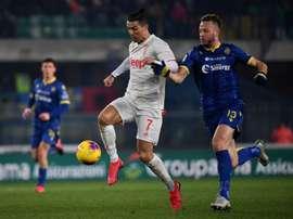Ronaldo sets scoring record but Juventus fall in Verona