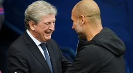 Roy Hodgson respondeu a Pep. AFP