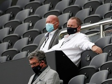 Newcastle United owner Mike Ashley (right). AFP