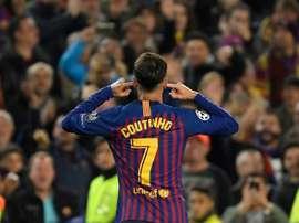 Coutinho confessou que não vive a sua melhor época no Barcelona. AFP